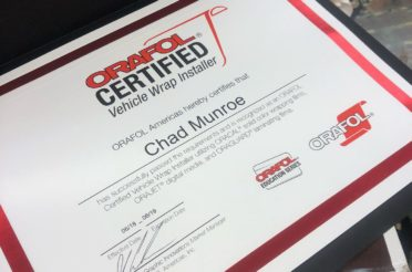 Chad Munroe adds to growing list of industry certifications with Orafol wrap certification
